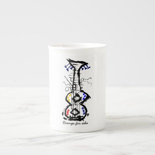 guitarra abstracta taza de té