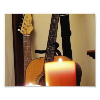Guitarra acústica 2 fotografias