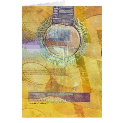 Guitarra acústica abstracta tarjeta de felicitación