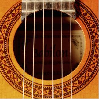 Guitarra acústica adorno fotoescultura