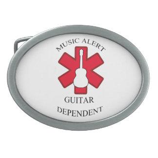 Guitarra acústica alerta de la música hebilla cinturón oval