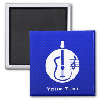 Guitarra acústica azul imán