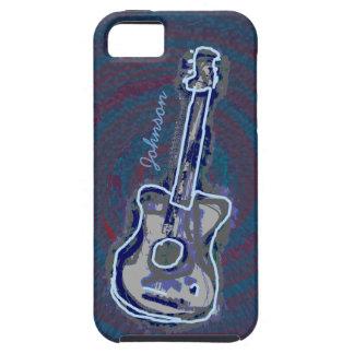 guitarra acústica azul personalizada funda para iPhone SE/5/5s