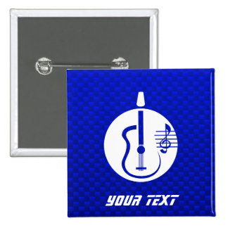 Guitarra acústica azul pin cuadrado