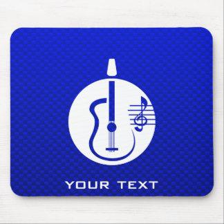 Guitarra acústica azul alfombrillas de ratones