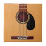 Guitarra acústica azulejos cerámicos