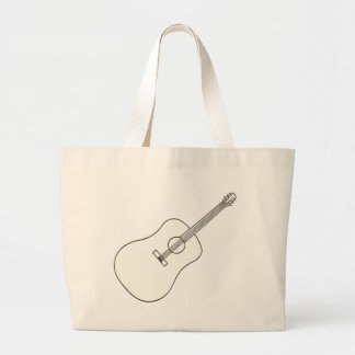 Guitarra acústica, bolsos del dibujo del arte del  bolsa de mano