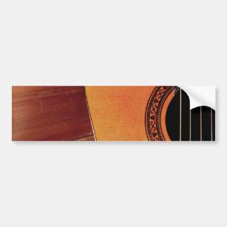 Guitarra acústica pegatina de parachoque