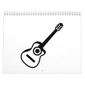 Guitarra acústica calendarios de pared