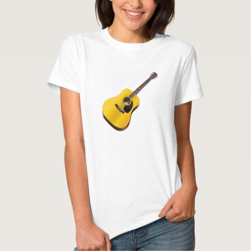 Guitarra acústica camisetas