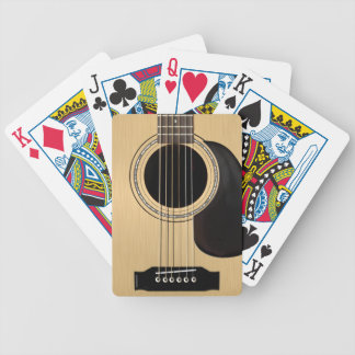 Guitarra acústica cartas de juego