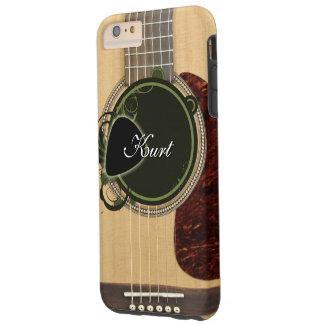 Guitarra acústica clásica con nombre de encargo funda de iPhone 6 plus tough