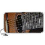 Guitarra acústica clásica iPod altavoz