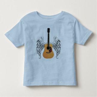 Guitarra acústica coa alas playera de bebé