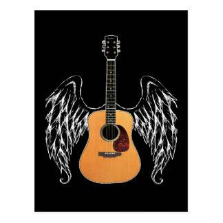 Guitarra acústica coa alas postal