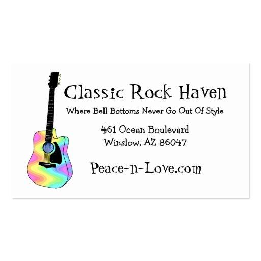 Guitarra acústica colorida maravillosa tarjetas de visita
