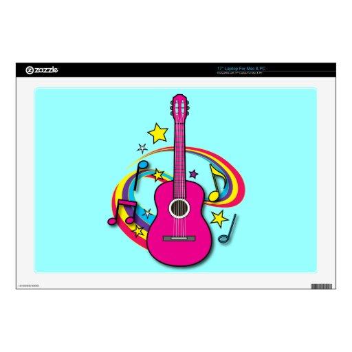 Guitarra acústica con el arco iris skins para 43,2cm portátiles