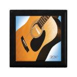 Guitarra acústica con el azul - caja de regalo per