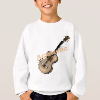 guitarra acústica con el texto playera