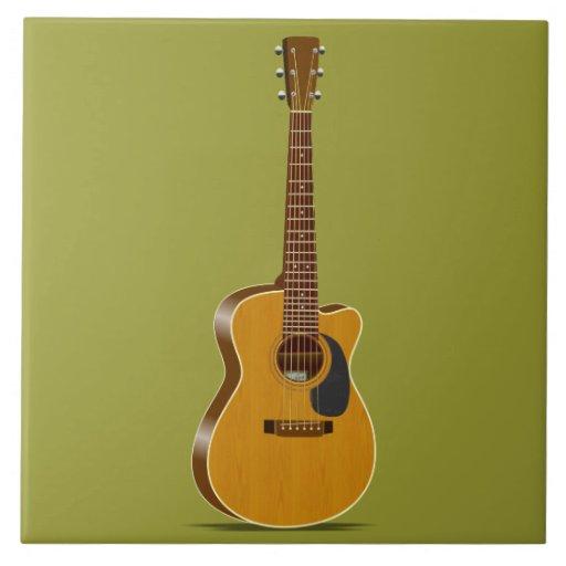Guitarra acústica cortada tejas