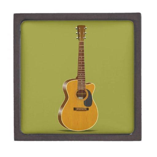 Guitarra acústica cortada cajas de joyas de calidad