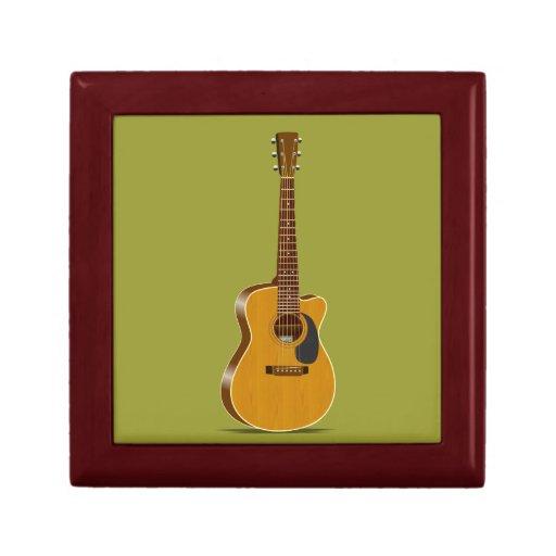 Guitarra acústica cortada caja de recuerdo