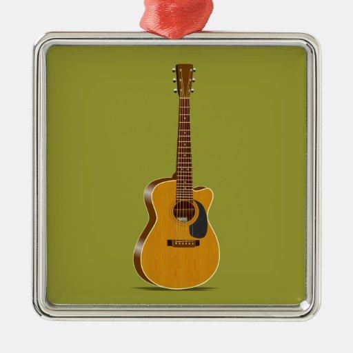 Guitarra acústica cortada ornato