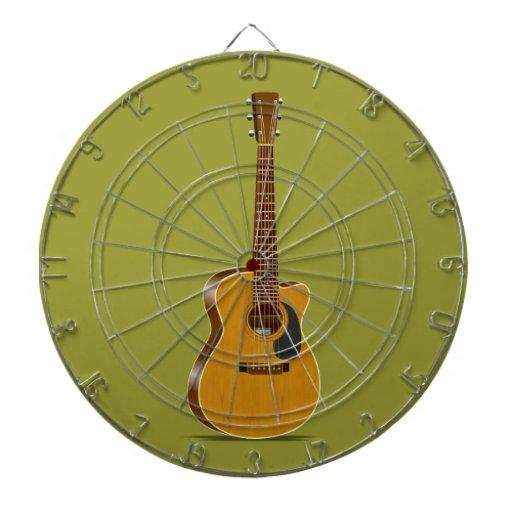 Guitarra acústica cortada tablero de dardos