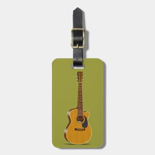 Guitarra acústica cortada etiquetas para maletas