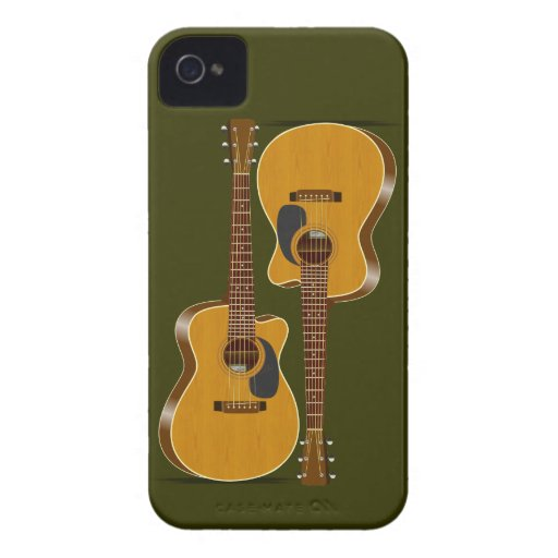 Guitarra acústica cortada Case-Mate iPhone 4 protectores