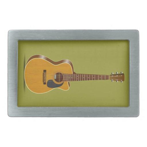 Guitarra acústica cortada hebillas de cinturón