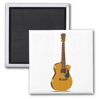 Guitarra acústica cortada imán cuadrado