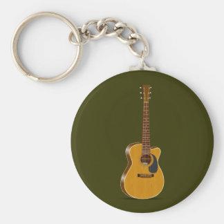 Guitarra acústica cortada llaveros personalizados