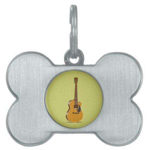 Guitarra acústica cortada placas mascota