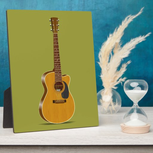 Guitarra acústica cortada placas para mostrar