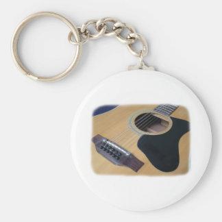 Guitarra acústica de 12 secuencias llaveros personalizados