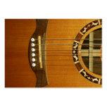 Guitarra acústica de 6 secuencias tarjeta personal