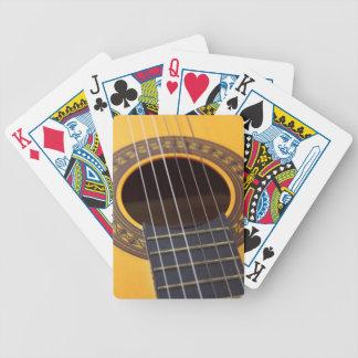 Guitarra acústica de la armonía baraja de cartas