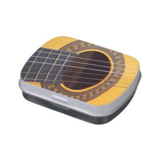 Guitarra acústica de la armonía jarrones de caramelos