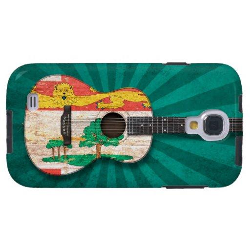 Guitarra acústica de la bandera de Isla del Princi