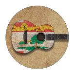 Guitarra acústica de la bandera de Isla del Princi Juego De Fichas De Póquer