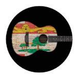 Guitarra acústica de la bandera de Isla del Princi Fichas De Póquer