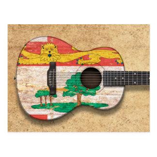 Guitarra acústica de la bandera de Isla del Postal