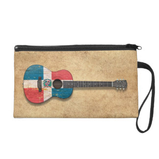 Guitarra acústica de la bandera de la República Do