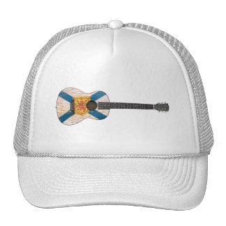 Guitarra acústica de la bandera gastada de Nueva E Gorro