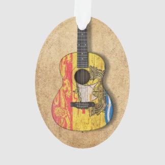 Guitarra acústica de la bandera gastada de Nuevo B