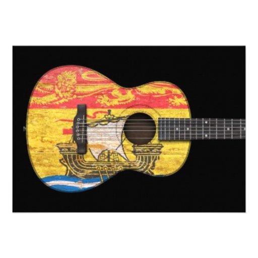 Guitarra acústica de la bandera gastada de Nuevo B Anuncios