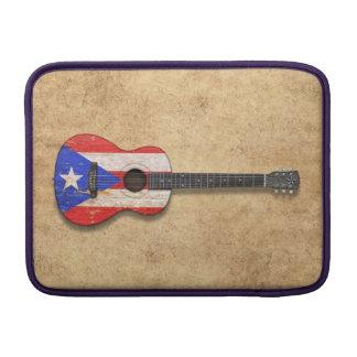Guitarra acústica de la bandera gastada de Puerto  Funda Macbook Air