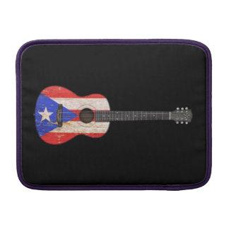 Guitarra acústica de la bandera gastada de Puerto  Funda Para Macbook Air