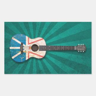 Guitarra acústica de la bandera gastada de Terrano Rectangular Altavoz